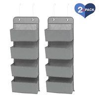 Soft Fabric Wall Mount/Over Door Hanging Storage Organizer (2 Pack)