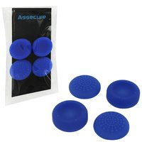 PS4 Silicone Thumb Grips: Concave & Convex - Blue for PS4