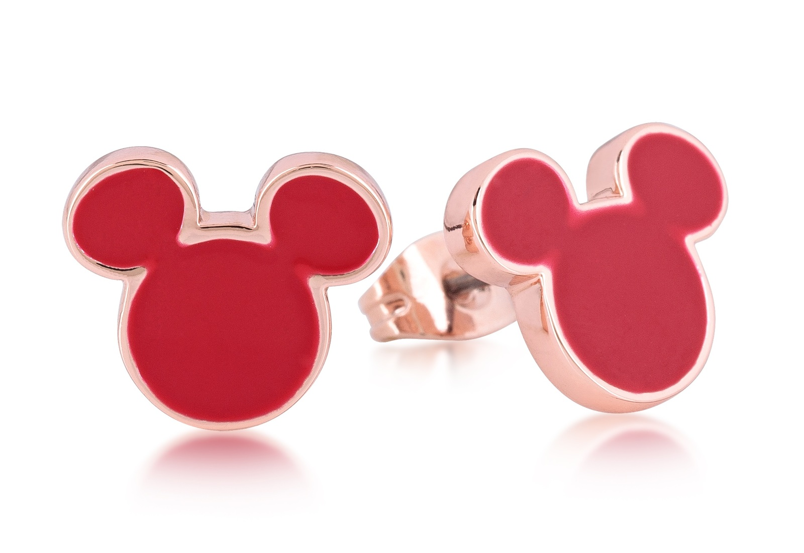 Couture Kingdom: Disney - Mickey Mouse Stud Earrings (Rose Gold) image