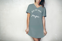 Hello Mello: Just One More Page V-Neck Sleep Shirt - L-XL image