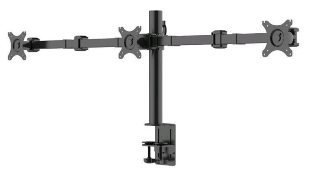 "Loctek: DLB113 Three Monitor Desk Mount (10"" - 30"")"