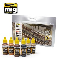 Ammo of Mig Jimenez Railway Acrylic Fast Method Paint Set