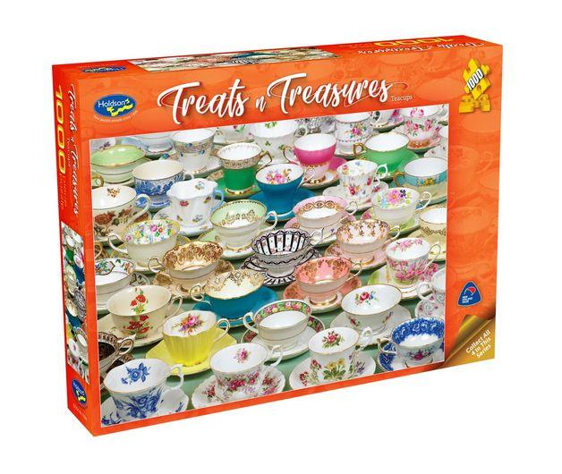 Holdson: Treats 'n Treasures S2 - Teacups (1000pc puzzle)
