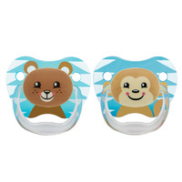 Dr Brown's PreVent Printed Shield Pacifier Blue Stage 2 - 6-12mths (2 Pack)