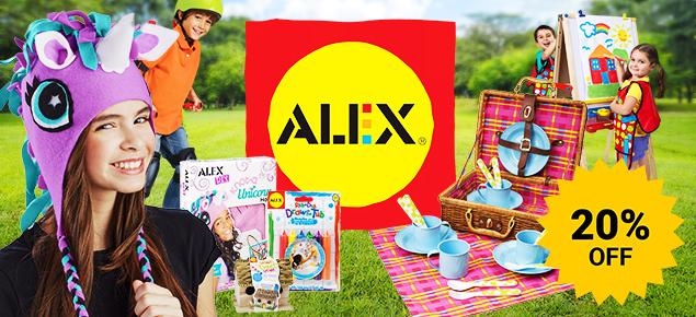 20% off Alex Toys!