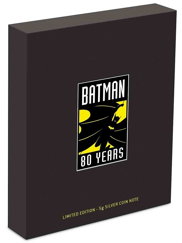 NZ Mint: Batman - Silver Coin Note - 80th Anniversary (5g Silver) image