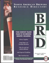 North American Brewers Resource Directory: 2001-2003 by Institute for Brewing Studies image