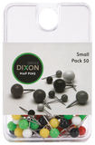 Dixon Map Pins Small Assorted Colour Pack 50