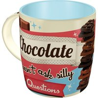 Say it 50's Mug - Chocolate Doesn't Ask Silly Questions