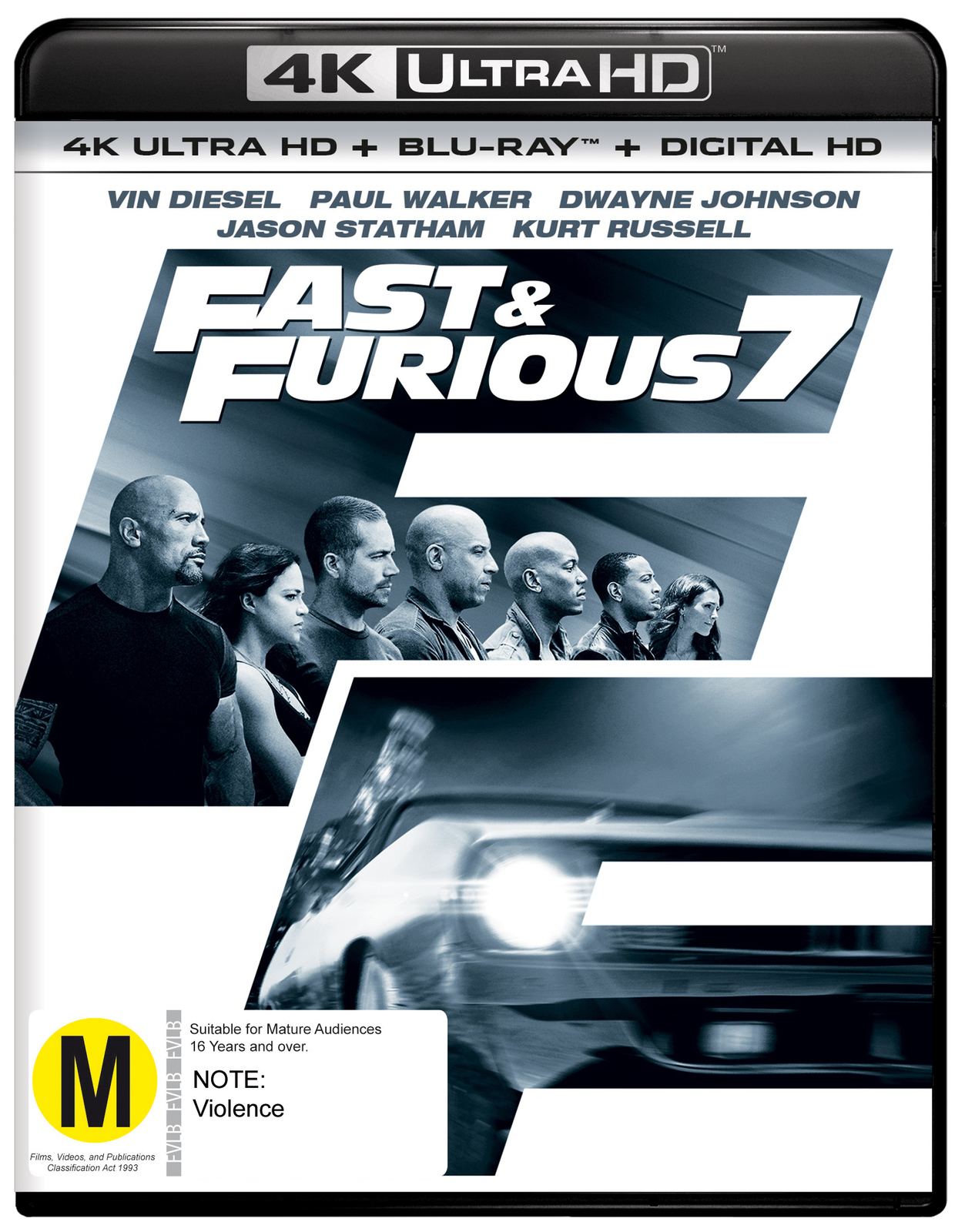 fast and furious 7 blu ray uhd blu ray in stock buy now at mighty ape nz. Black Bedroom Furniture Sets. Home Design Ideas