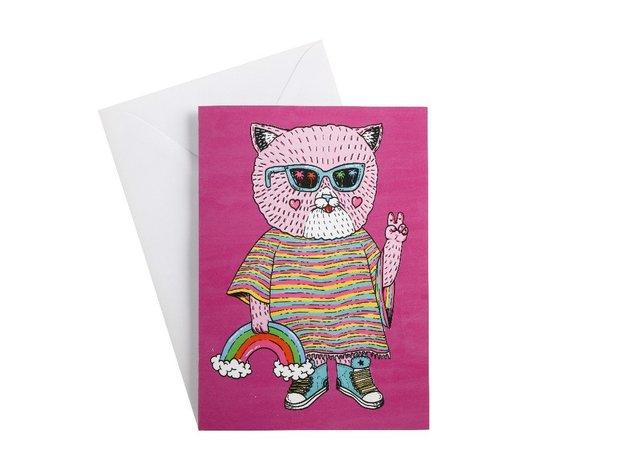 Maxwell & Williams: Mulga The Artist Greeting Card - Cat
