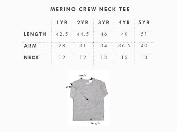 Babu: Merino Crew Neck Long Sleeve T-Shirt - Tui Green (2 Years) image