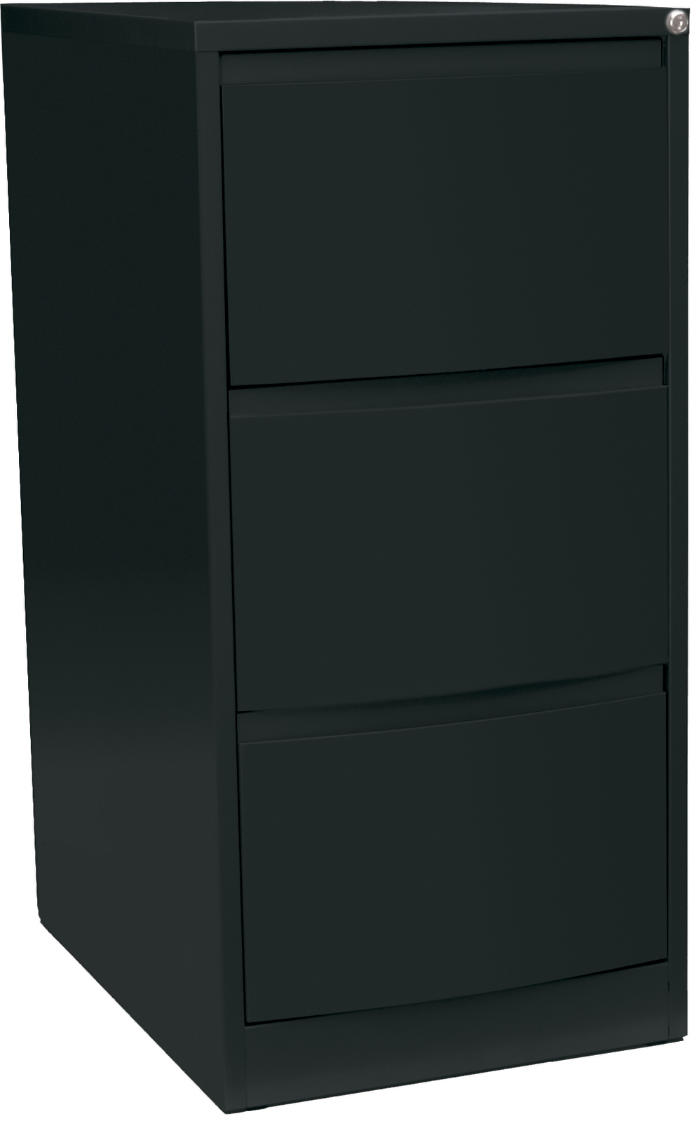 buy precision kurve lockable filing cabinet 3 drawer black texture at mighty ape nz