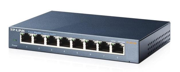 TP-Link TL-SG108 Steel Housing 8-Port 100/1000Mbps Desktop Switch
