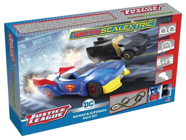 Scalextric: Justice League - Micro Slot Car Set