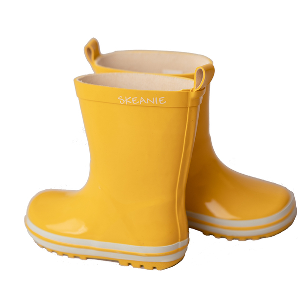 Skeanie: Kids Gumboots Yellow - Size 35