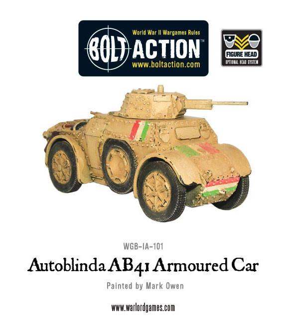 Italian Army - Autoblinda AB41 armoured car