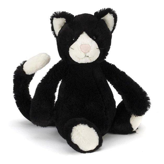 Jellycat: Bashful Cat - Black & White (Medium)