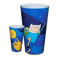 Adventure Time Finn and Jake Fist Bump Pint Glass