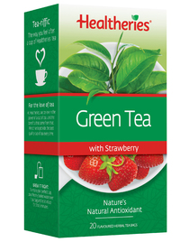 Healtheries Green Tea with Strawberry (Pack of 20) image