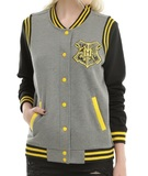 Harry Potter: Hufflepuff - Slim-Fit Varsity Jacket (XL)