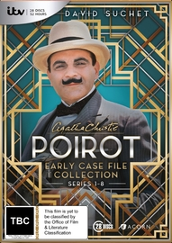 Poirot: Early Case File Collection Seasons 1-8 on DVD