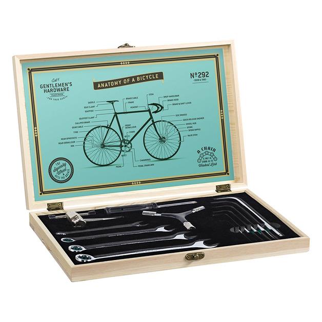 Gentlemen's Hardware Bicycle Tool Kit Wooden Box