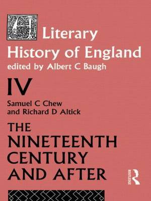 A Literary History of England Vol. 4 by Samuel C. Chew