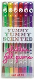 International Arrivals: Yummy Scented Glitter Gel Pens - Set of 12