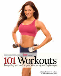Muscle and Fitnness Hers Presents 101 Workouts by Carey Rossi image