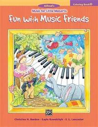Music for Little Mozarts Coloring Book, Bk 1 by Christine H Barden