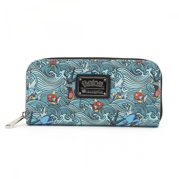 Loungefly Pokemon Gyarados Magikarp Waves Zip Around Wallet