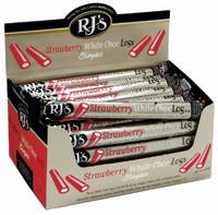 RJ's Strawberry White Choc Single Logs 30pk