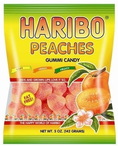 Haribo Peaches Gummi Candy 142g