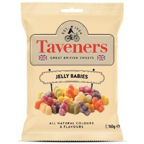 Taveners Great British Sweets Jelly Babies 165g 12pk