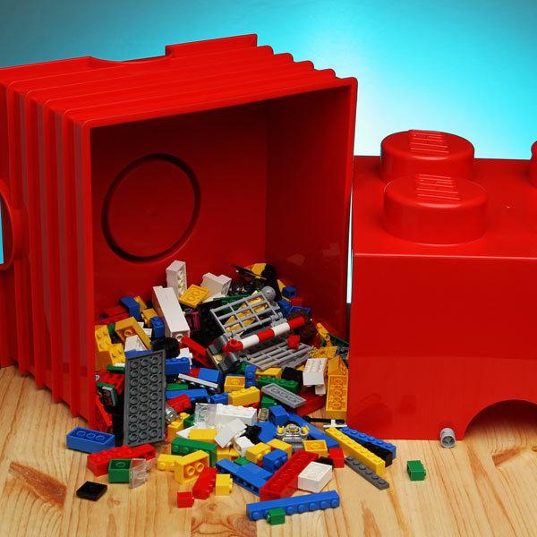 Lego Storage Brick 4 White At Mighty Ape Australia