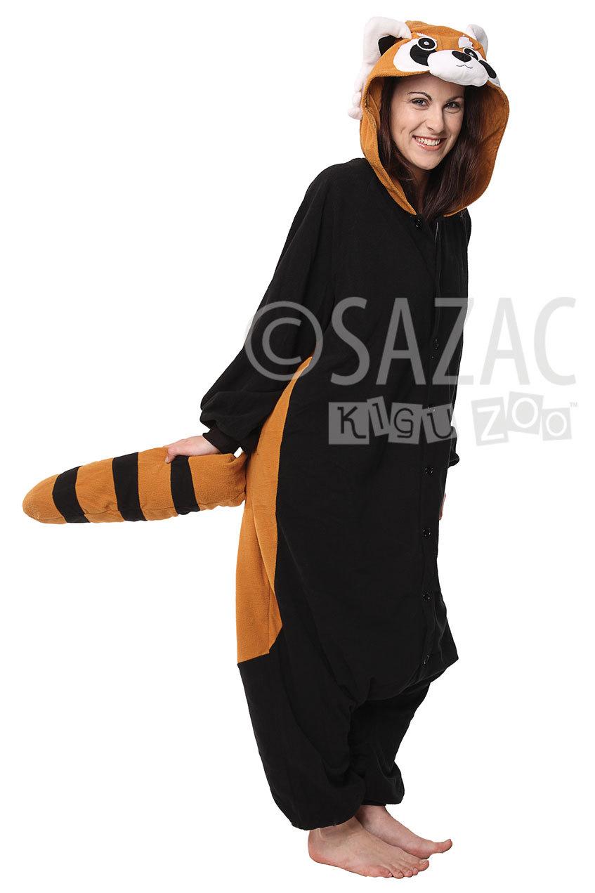 Image of: Kawaii Kigu Zoo Red Panda Kigurumi Onesie Adult Image Onesiebuycom Red Panda Kigurumi Onesie Mens At Mighty Ape Nz