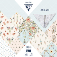 Clairefontaine: Origami 60 Sheets - 15x15cm/Boheme Chic