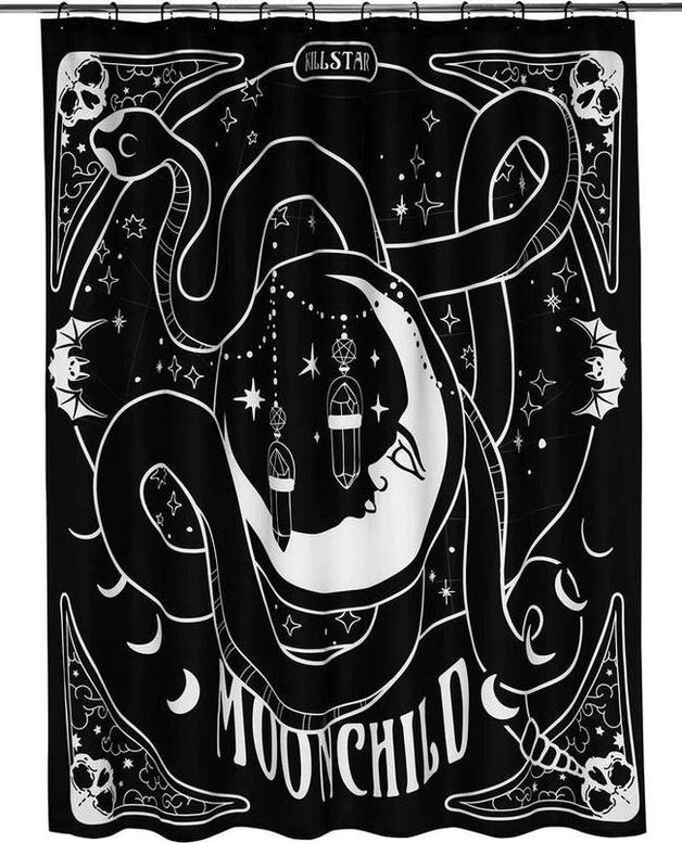 Killstar: Moon Child Shower Curtain