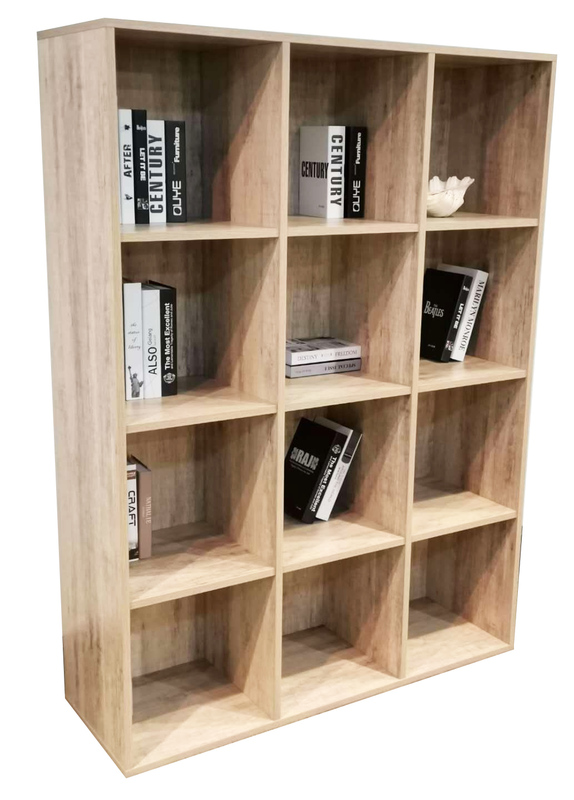 12 Cube Cubby in Wood Grain Finish