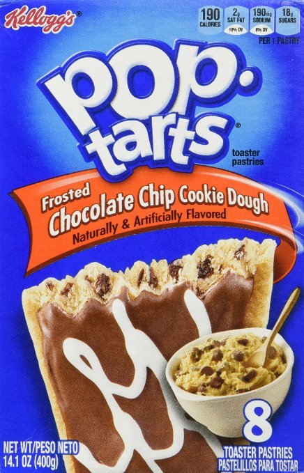 Kellogg's Pop-Tarts Chocolate Chip Cookie Dough (Pack of 8)