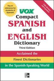 Vox Compact Spanish and English Dictionary, Third Edition (Paperback) by Vox