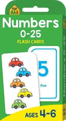 School Zone Numbers 0-25 Flash Cards image