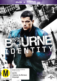 The Bourne Identity on DVD, UV