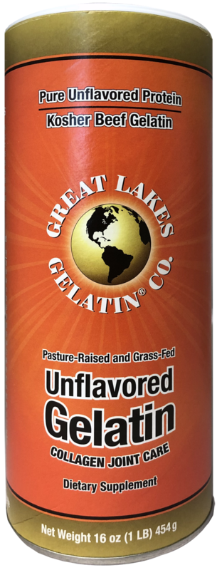 Great Lakes: Gelatin Unflavoured Kosher Beef Gelatin (454g)