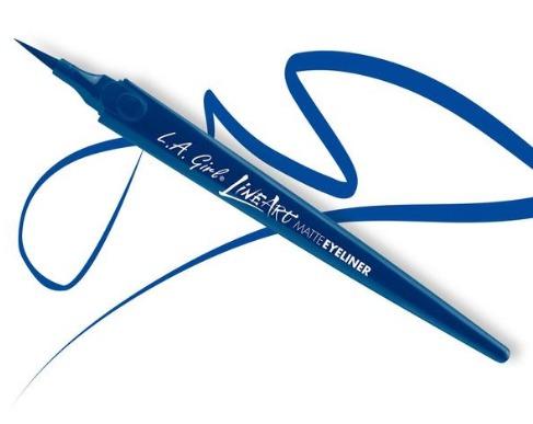 LA Girl Line Art Matte Eyeliner - Cobalt