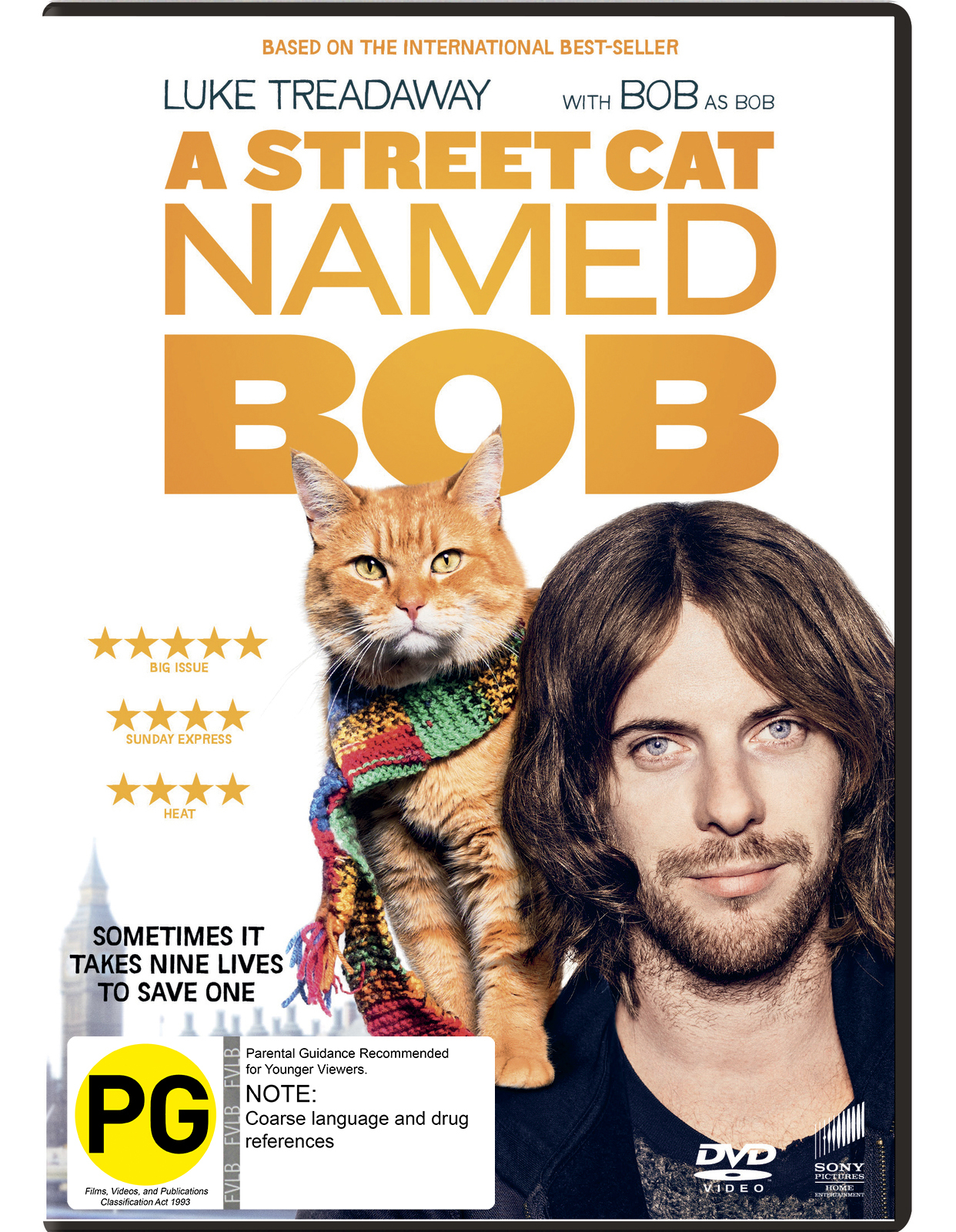 A Street Cat Named Bob on DVD image