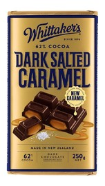 Whittakers: 62% Cocoa Dark Salted Caramel (250g)