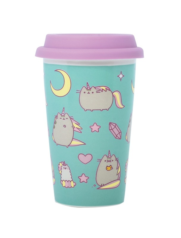 Pusheen: Pusheenicorn Pattern - Ceramic Travel Mug