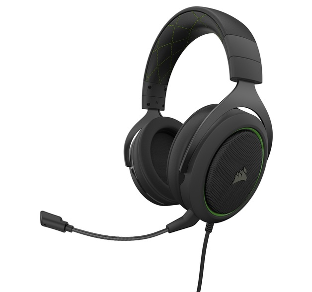 Corsair HS50 Pro Gaming Headset (Green) for PC